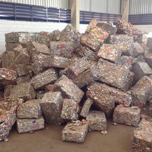 Ferrous scrap material to process ferrous cans
