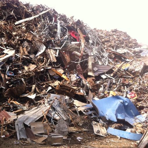 Ferrous scrap material to process light scrap