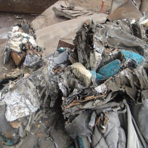 Chatarra férrica tipos de materiales procesables Coche cizallado