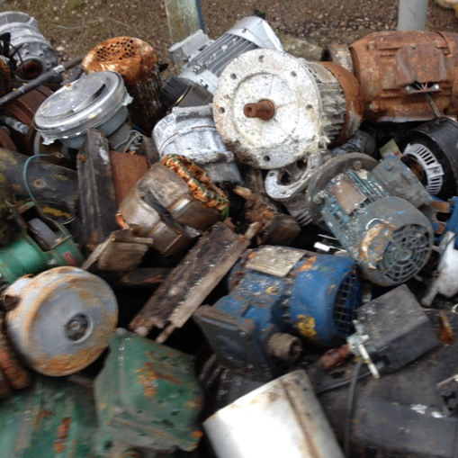 Ferrous scrap material to process electric motors