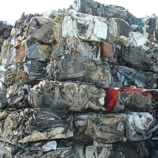 Ferrous scrap material to process bales