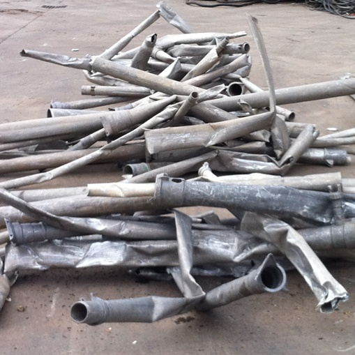 Non ferrous scrap material to process Al pipes