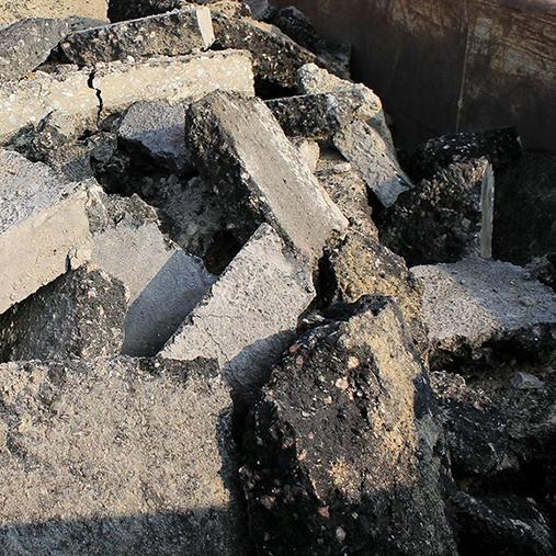 Residuos de construcción y demolición (RDC) Tipos de materiales procesables Asfalto