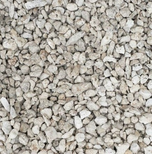 Crushed reinforced concrete