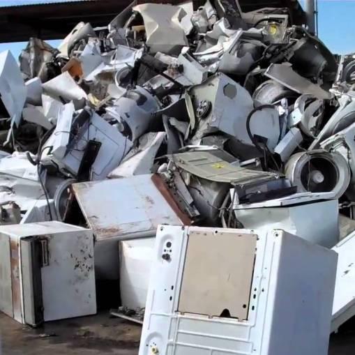 Ferrous scrap material to process White line (appliances)