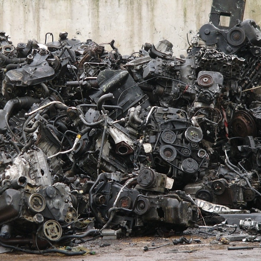 Ferrous scrap material to process Engines