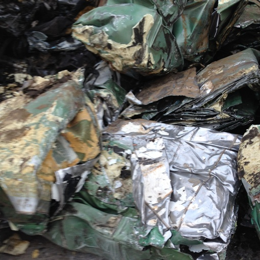 Ferrous scrap material to process Sandwich panels