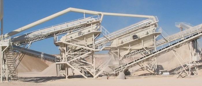 Instalaciones fijas para el tratamiento de áridos y minerales Clasificación