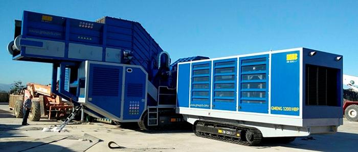 Ferrous scrap processing GMENG mobile power units