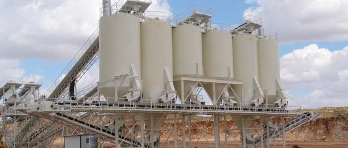 Instalaciones fijas para el tratamiento de áridos y minerales (PERIFÉRICOS)