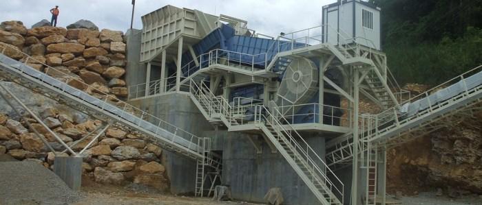Instalaciones fijas para el tratamiento de áridos y minerales Trituración