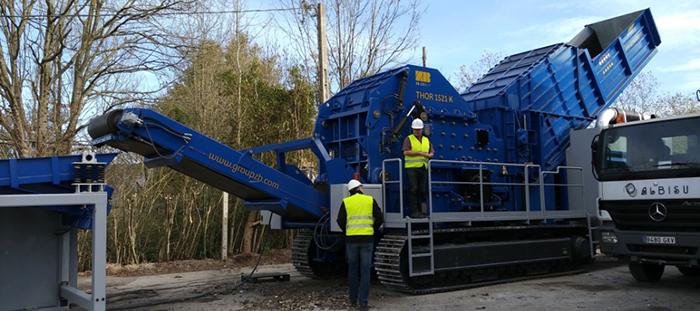 Installations mobiles de broyage des déchets ferreux THOR