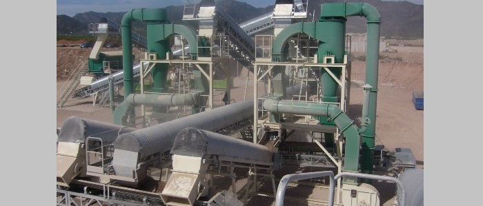 CDW treatment stationary plants Cleaning