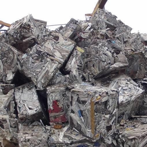 Chatarra no férrica tipos de materiales procesables Paquete aluminio