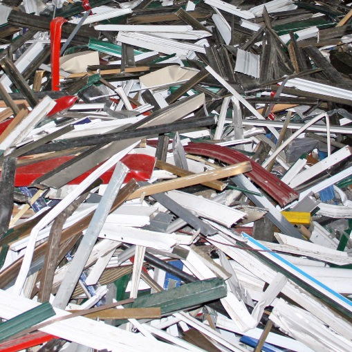 Non ferrous scrap material to process Al profiles