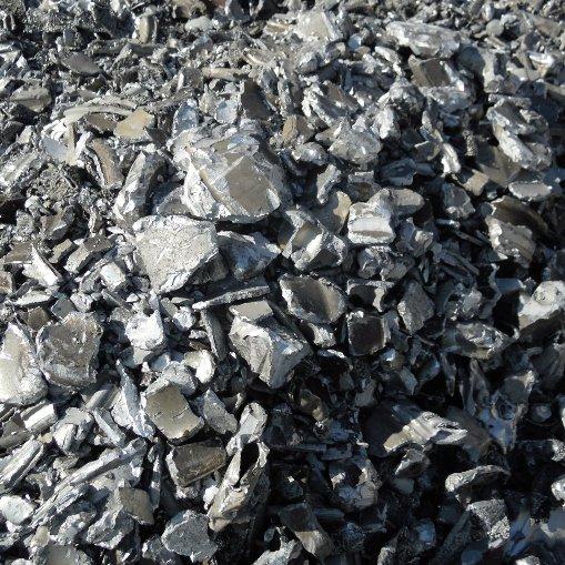 Tubos aluminio fragmentado