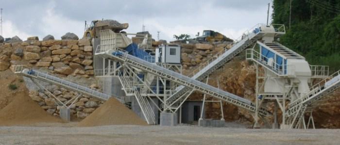 Stationäre Anlage zur Verarbeitung Von Zuschlagstoffen und Mineralien