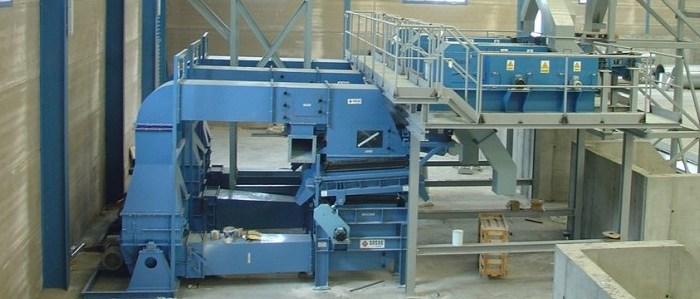 Instalaciones fijas para el tratamiento de chatarra no férrica Separación de metales no férricos